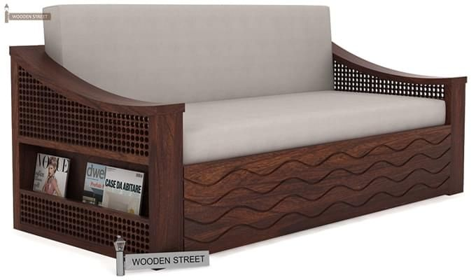 Thar Sofa Cum Bed (King Size, Walnut Finish)-1