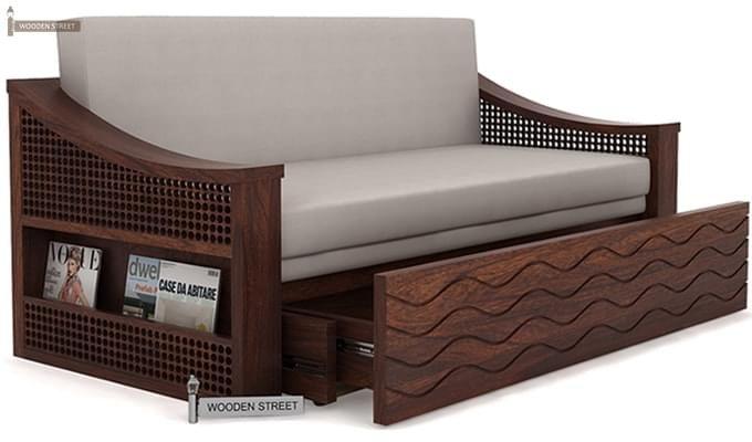 Thar Sofa Cum Bed (King Size, Walnut Finish)-2