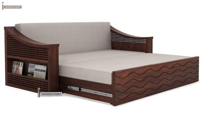 Thar Sofa Cum Bed (King Size, Walnut Finish)-5