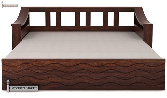 Thar Sofa Cum Bed (King Size, Walnut Finish)-7