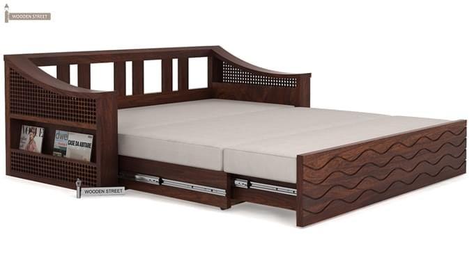 Thar Sofa Cum Bed (King Size, Walnut Finish)-8
