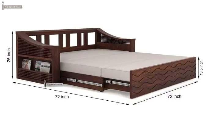 Thar Sofa Cum Bed (King Size, Walnut Finish)-10