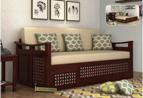 Wooden Sofa Come Bed Design With