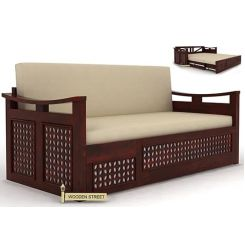 Treviso Sofa Cum Bed (King Size, Mahogany Finish)