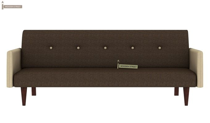 Tyler Fabric Sofa Cum Bed (Brown)-1