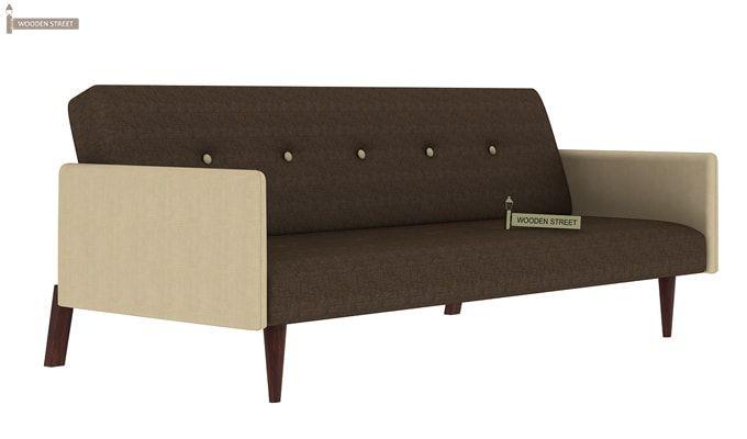 Tyler Fabric Sofa Cum Bed (Brown)-2