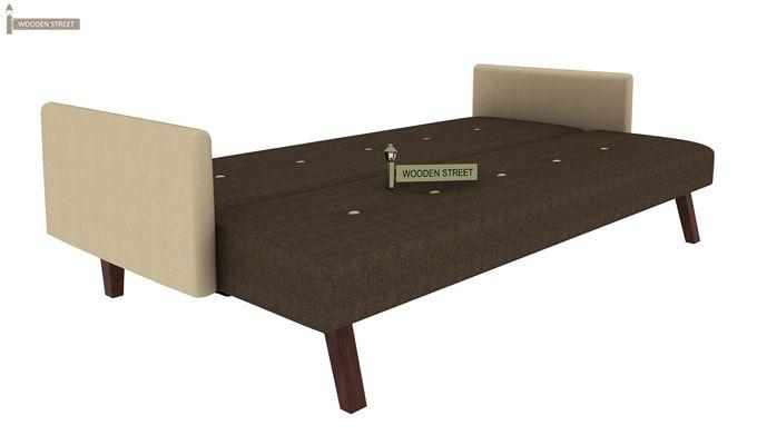 Tyler Fabric Sofa Cum Bed (Brown)-4