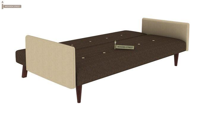 Tyler Fabric Sofa Cum Bed (Brown)-3