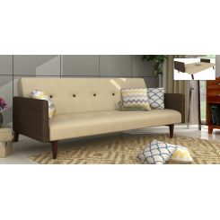 Tyler Fabric Sofa Cum Bed (Ivory)