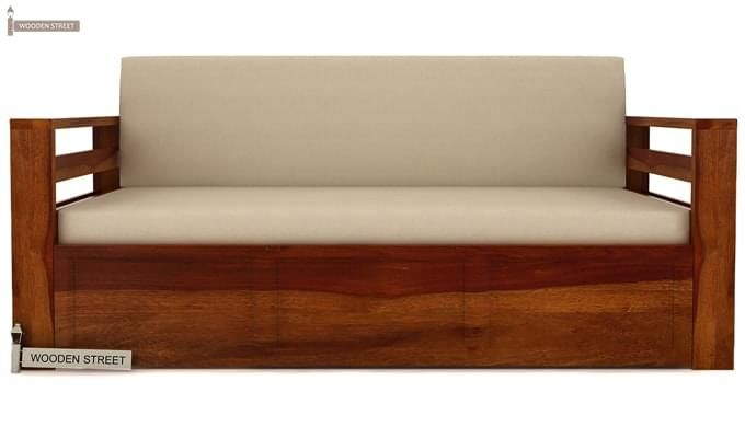 Vigo Sofa Cum Bed (Queen Size, Honey Finish)-4