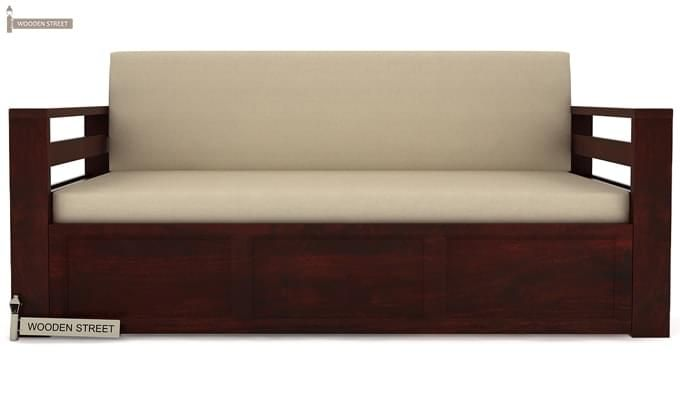Vigo Sofa Cum Bed (Queen Size, Mahogany Finish)-2