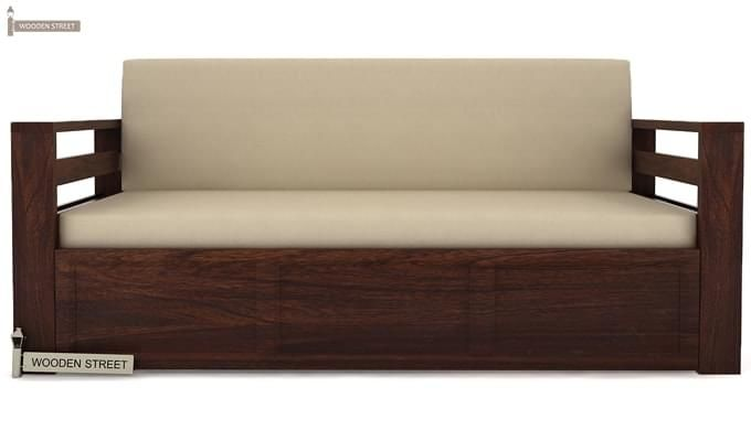 Vigo Sofa Cum Bed (Queen Size, Walnut Finish)-2
