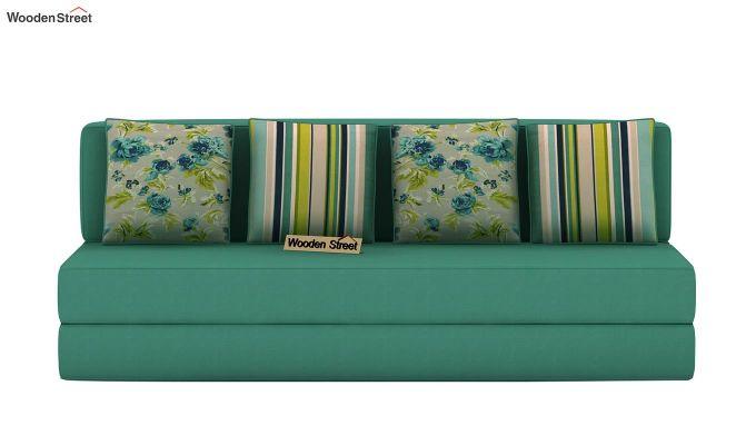 Voltz Fabric Sofa Cum Bed (Electric Turquoise)-4