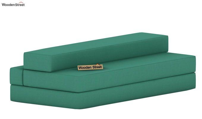 Voltz Fabric Sofa Cum Bed (Electric Turquoise)-7