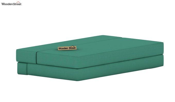 Voltz Fabric Sofa Cum Bed (Electric Turquoise)-6