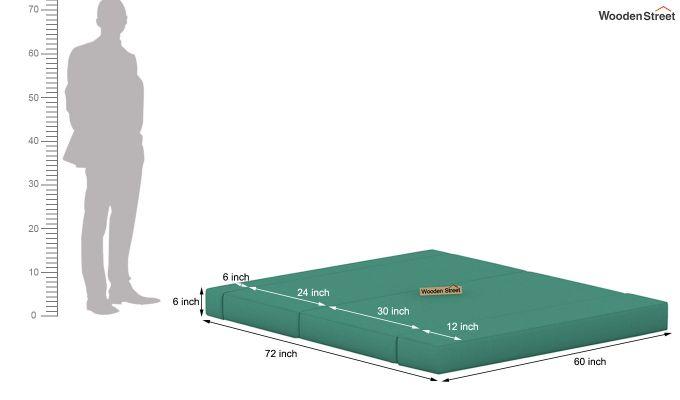 Voltz Fabric Sofa Cum Bed (Electric Turquoise)-9