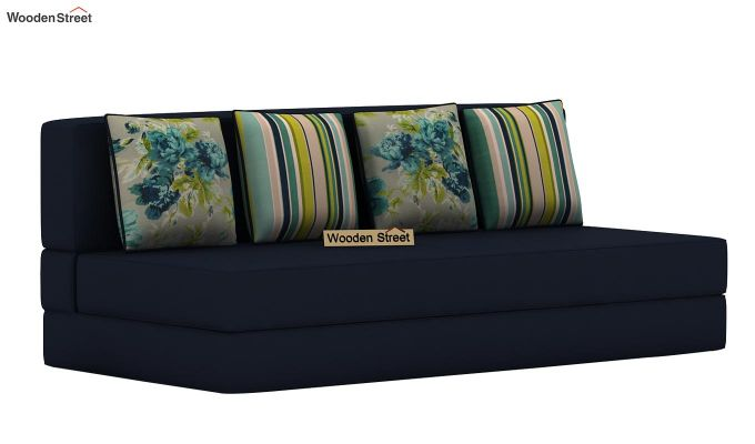 Voltz Fabric Sofa Cum Bed (Indigo Ink)-3