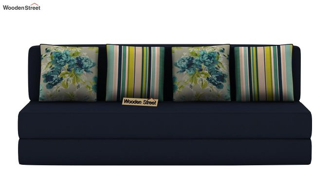 Voltz Fabric Sofa Cum Bed (Indigo Ink)-4