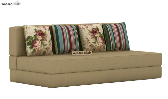 Voltz Fabric Sofa Cum Bed (Irish Cream)-3