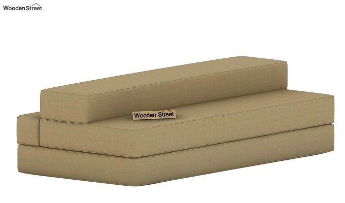 Voltz Fabric Sofa Cum Bed (Irish Cream)-7