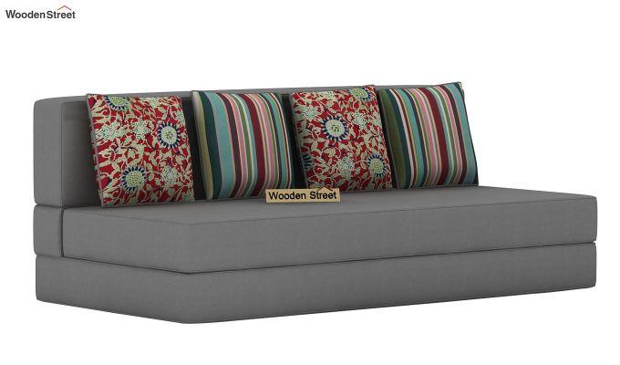 Voltz Fabric Sofa Cum Bed (Warm Grey)-3