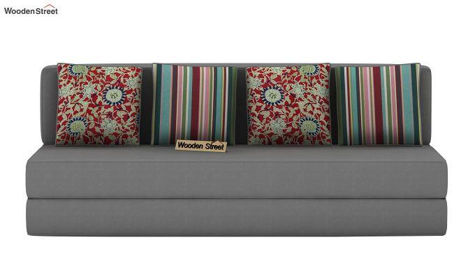 Voltz Fabric Sofa Cum Bed (Warm Grey)-4