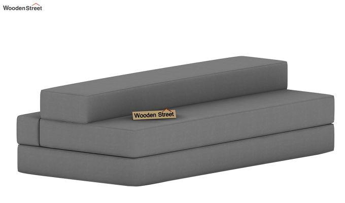 Voltz Fabric Sofa Cum Bed (Warm Grey)-7