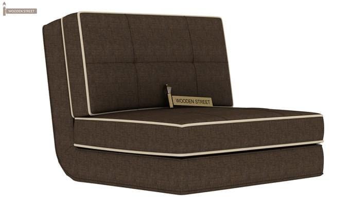 Winsley Fabric Sofa Cum Bed (Brown)-1