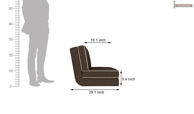 Winsley Fabric Sofa Cum Bed (Brown)-9