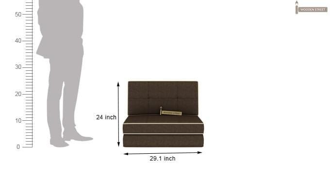 Winsley Fabric Sofa Cum Bed (Brown)-10