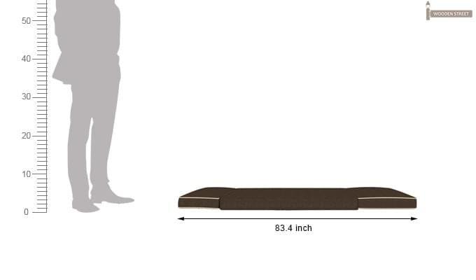 Winsley Fabric Sofa Cum Bed (Brown)-11