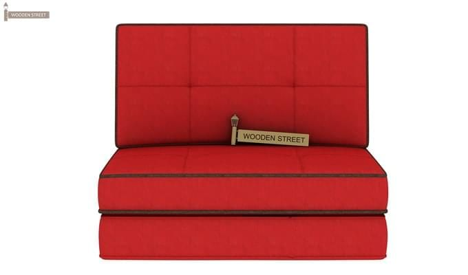 Winsley Fabric Sofa Cum Bed (Dusky Rose)-4