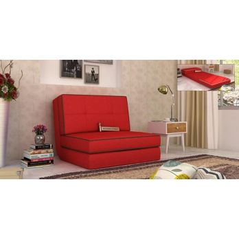 winsley Fabric Sofa Cum Bed (Red)