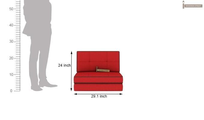 Winsley Fabric Sofa Cum Bed (Dusky Rose)-11