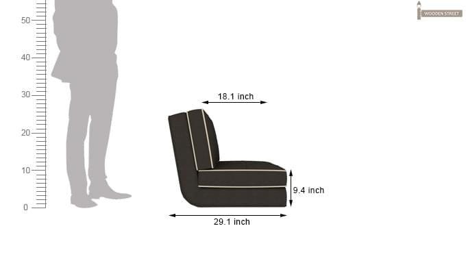 Winsley Fabric Sofa Cum Bed (Steel Grey)-10