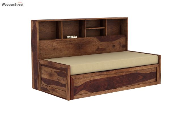 Zibah Sofa Cum Couch With Storage (King Size, Teak Finish)-3