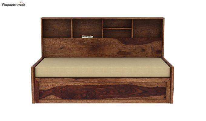 Zibah Sofa Cum Couch With Storage (King Size, Teak Finish)-4