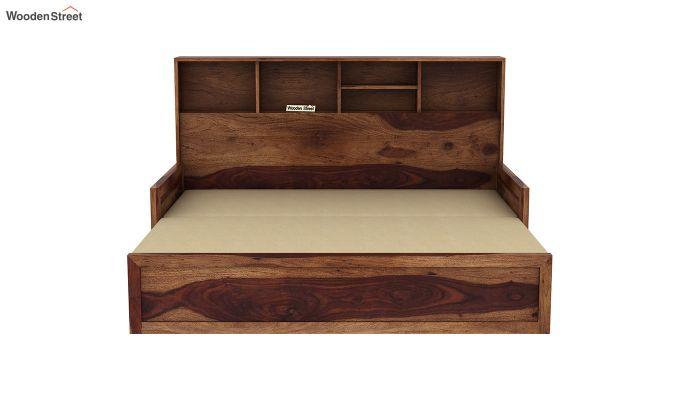 Zibah Sofa Cum Couch With Storage (King Size, Teak Finish)-7