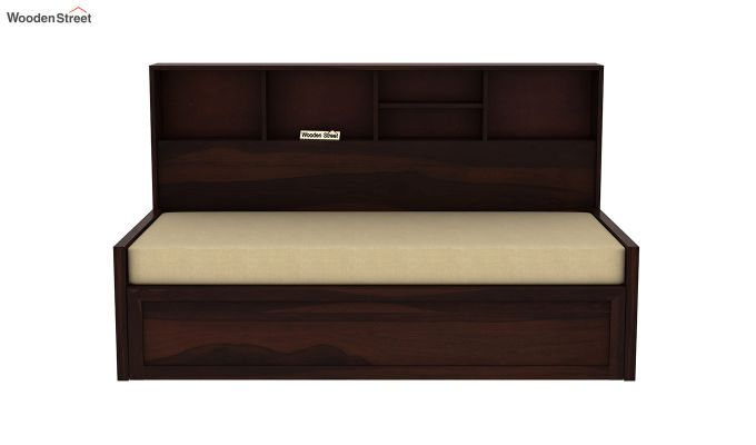 Zibah Sofa Cum Couch With Storage (King Size, Walnut Finish)-4