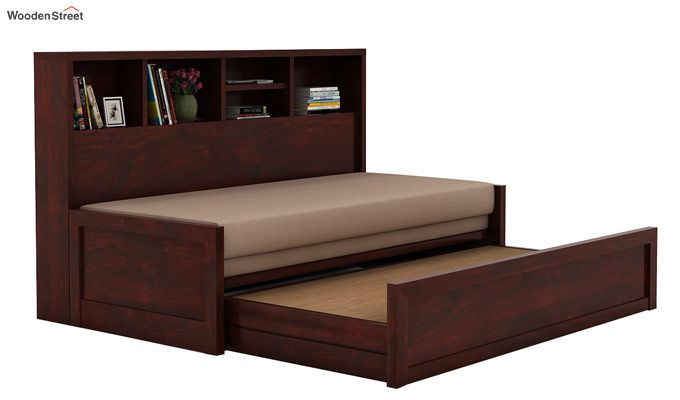 Zibah Sofa Cum Couch With Storage (Queen Size, Mahogany Finish)-3