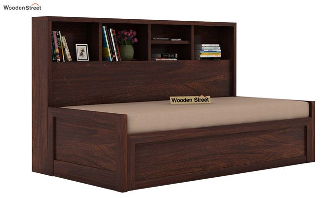 Zibah Sofa Cum Couch With Storage (King Size, Walnut Finish)-1