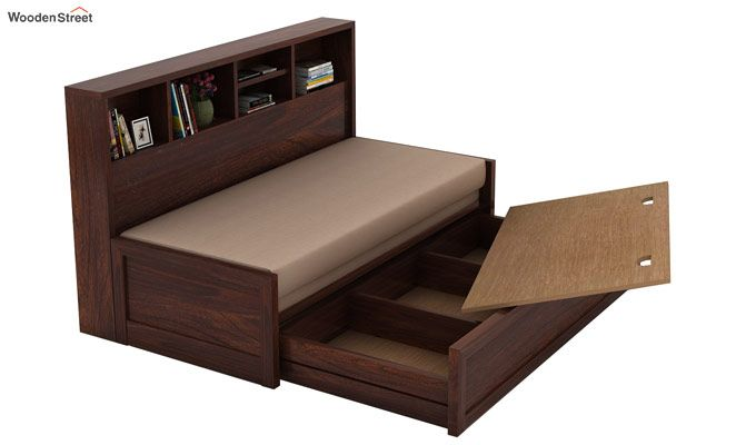 Zibah Sofa Cum Couch With Storage (King Size, Walnut Finish)-4