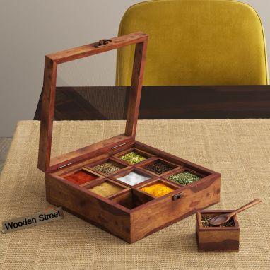 Kreo Spice Box (Teak Finish)