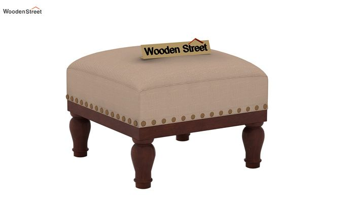 Adele Stool (Walnut Finish, Irish Cream)-2