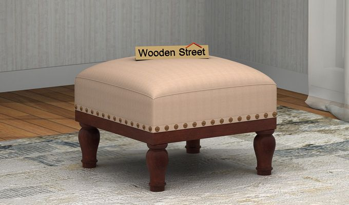 Adele Stool (Walnut Finish, Irish Cream)-1