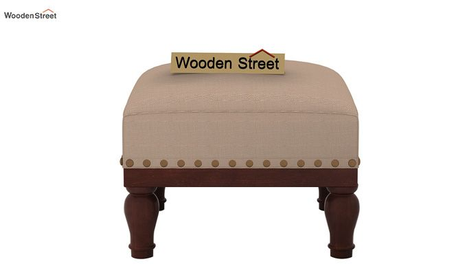 Adele Stool (Walnut Finish, Irish Cream)-3