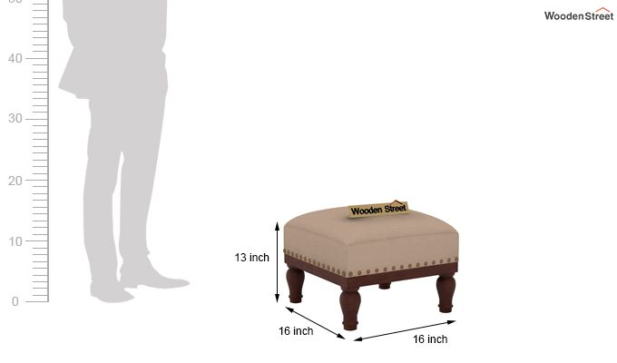 Adele Stool (Walnut Finish, Irish Cream)-4