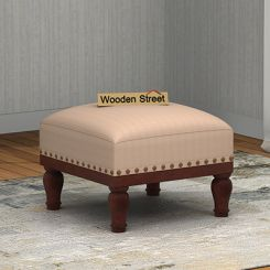 Adele Stool (Walnut Finish, Irish Cream)