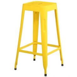 Afleck Iron Stool (Yellow)