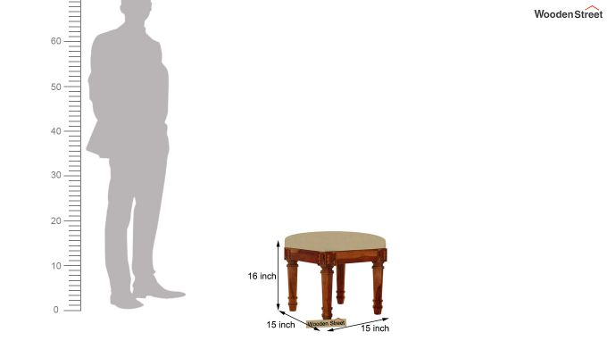 Archivist Stool (Irish Cream, Honey Finish)-3